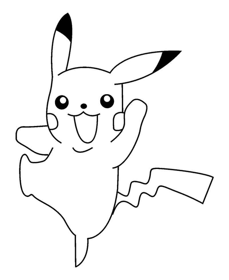 Pikachu Coloring Page Images