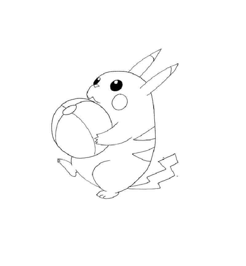 Pikachu Coloring Pages Online