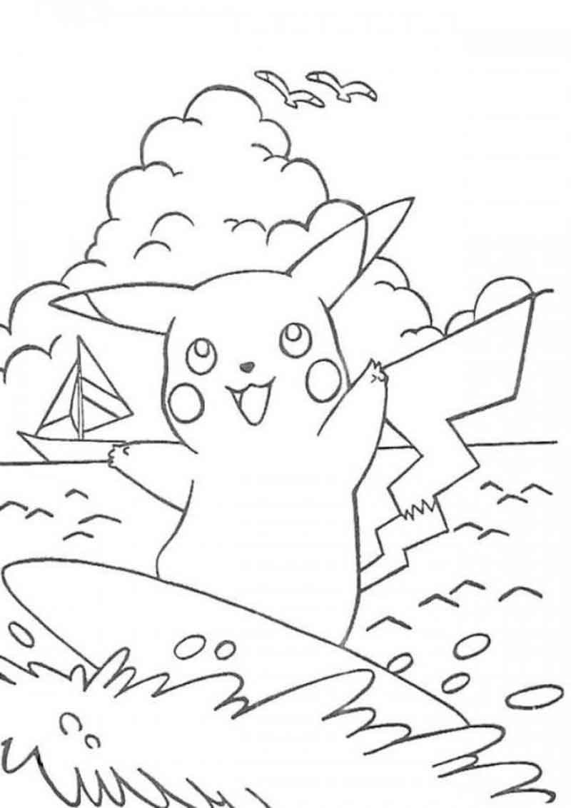 Pikachu Coloring Pages Printable