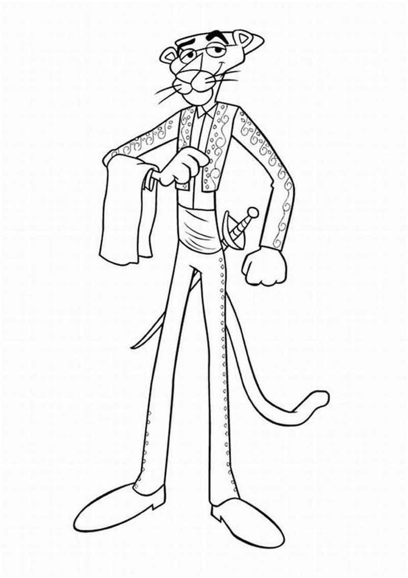 Pink Panther Coloring Pages Printable