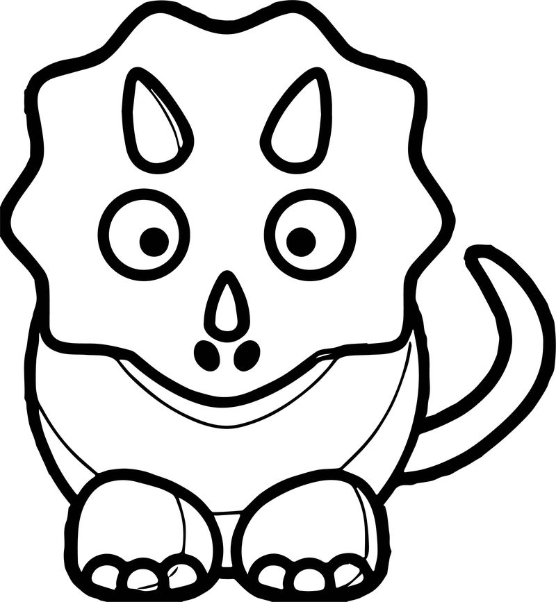 Pink Baby Dinosaur Md Coloring Page