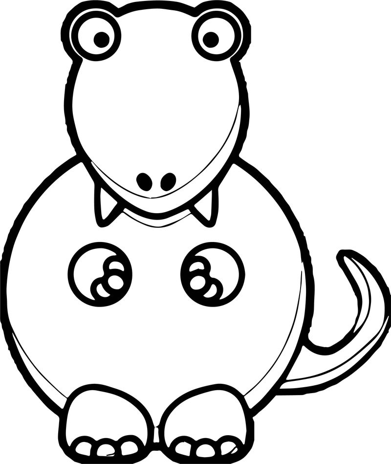 Pink Dinosaur Md Coloring Page