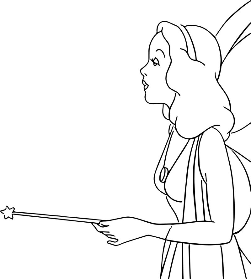 Pinocchio Blue Fairy 2 Coloring Pages