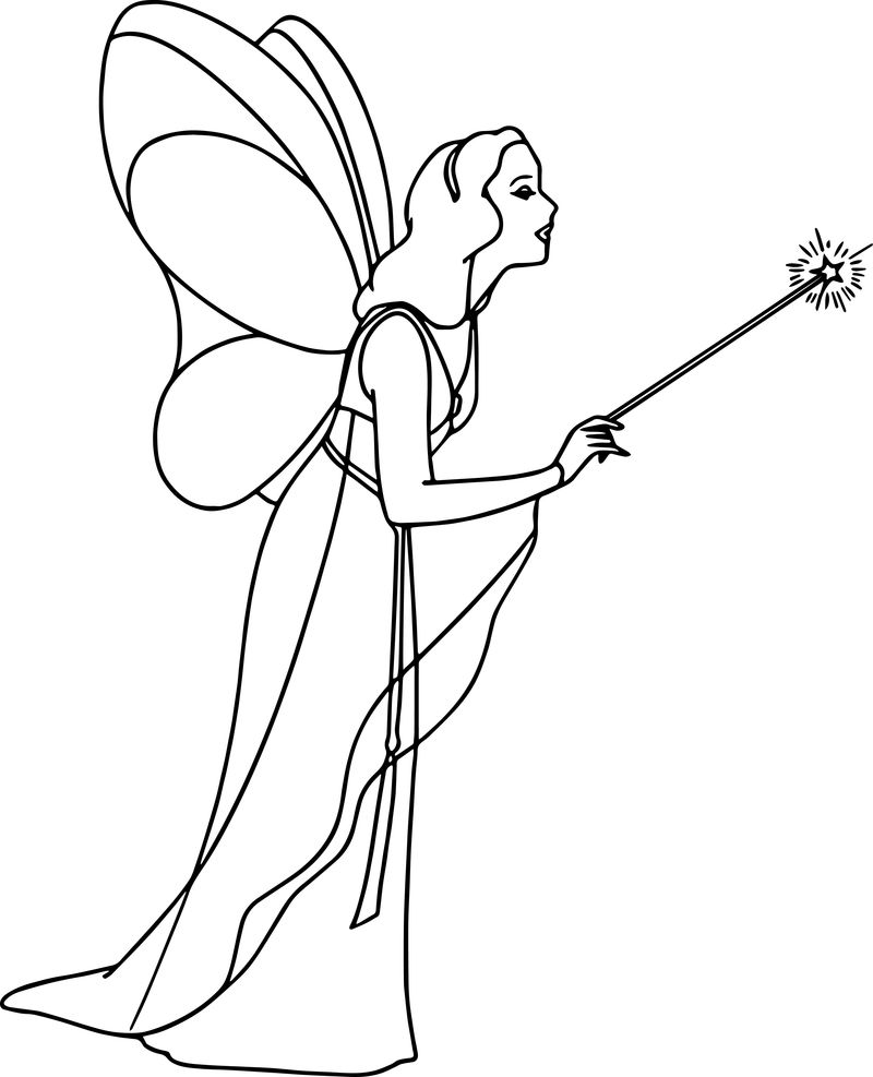 Pinocchio blue fairy 3 coloring pages