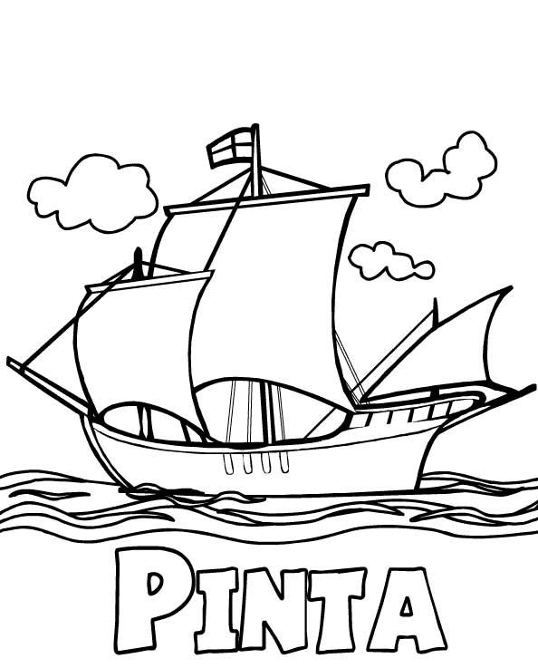 Pinta Columbus Day Coloring Pages