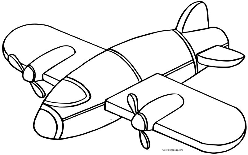Plane Fall Coloring Page