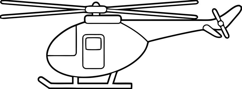 Plane Helicopter Coloring Page