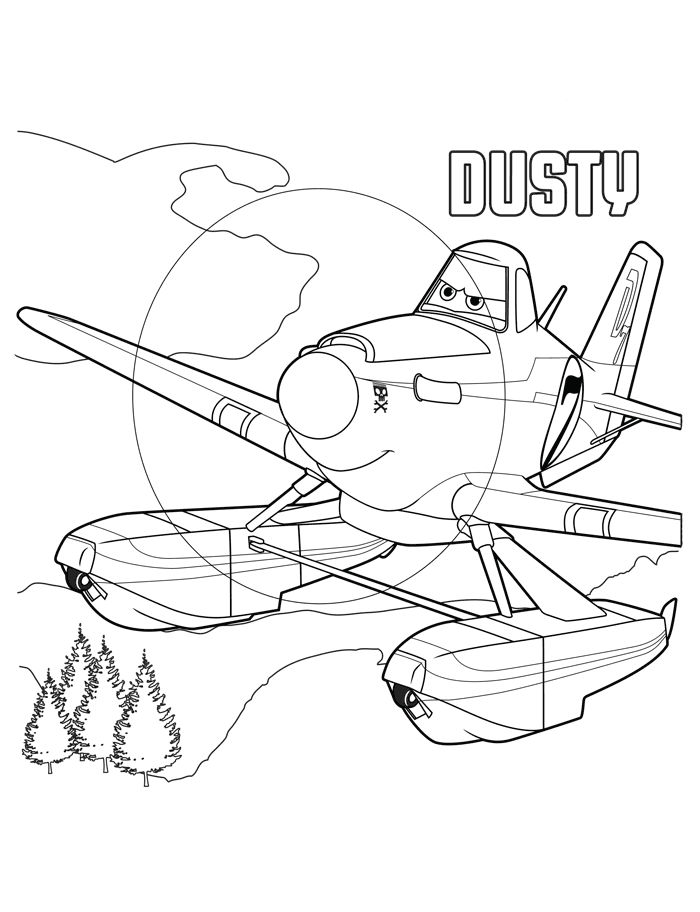 Planes Coloring Pages Dusty