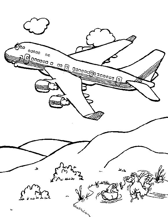 Planes Colouring Pages 4 001