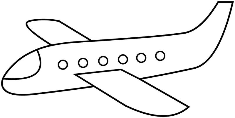Planes Colouring Pages Easy