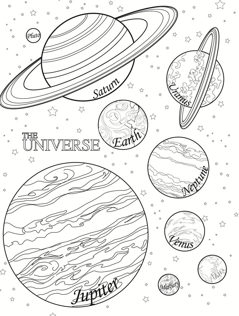 Planet Coloring Pages To Print 001