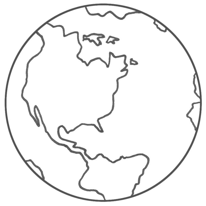 Planet Earth Coloring Pages For Kids 001