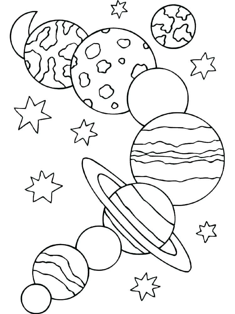 Planets Coloring Page Sheet