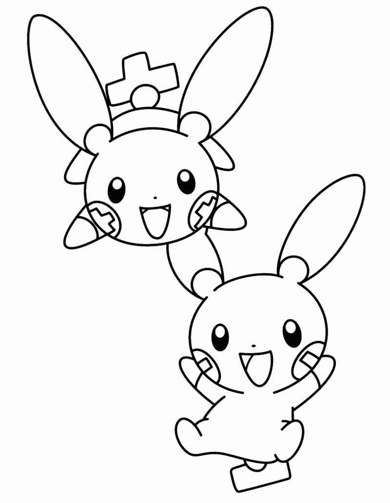 Plus And Minus Pokemon Coloring Pages
