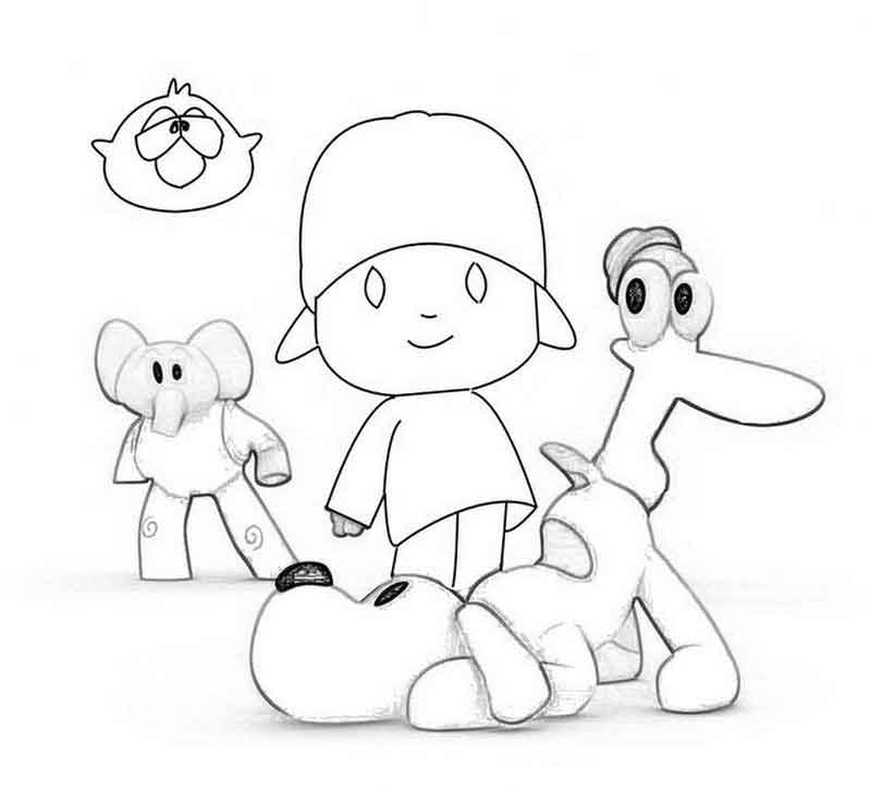 Pocoyo Color Pages