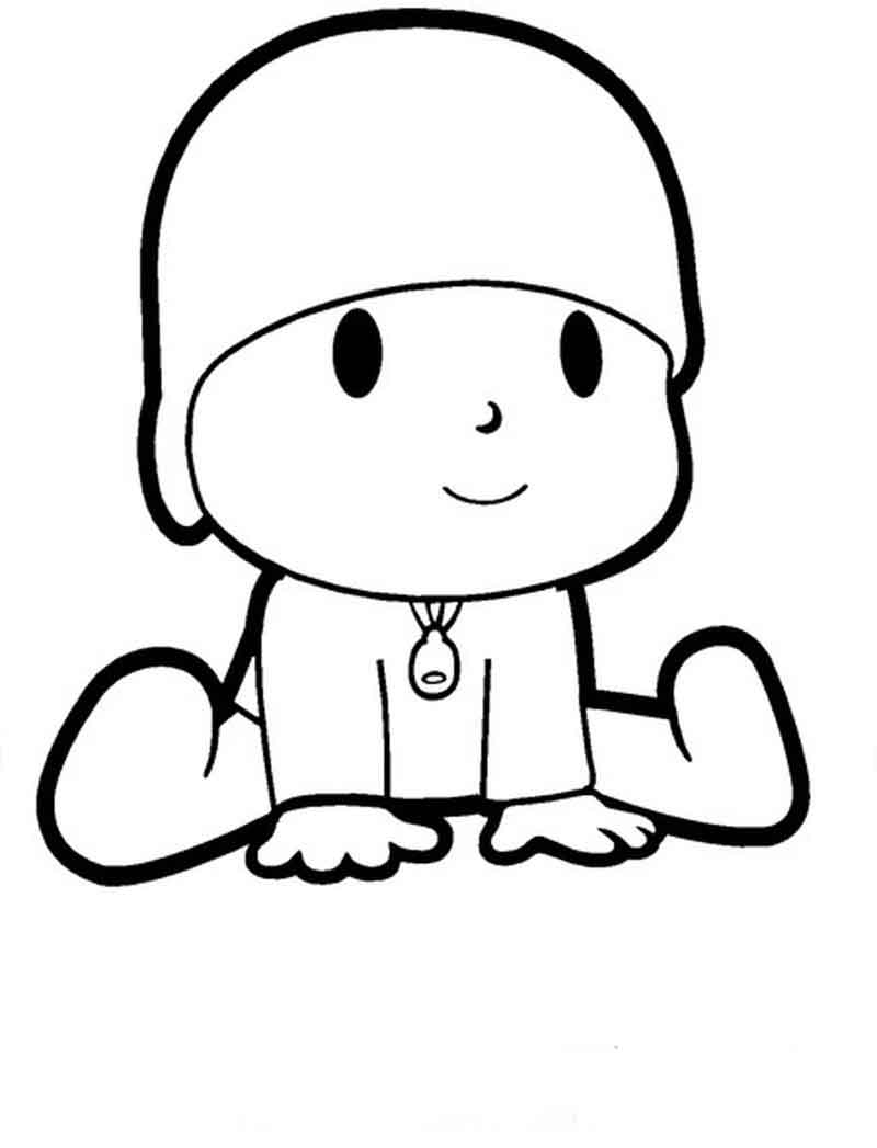 Pocoyo Coloring Pages For Kids