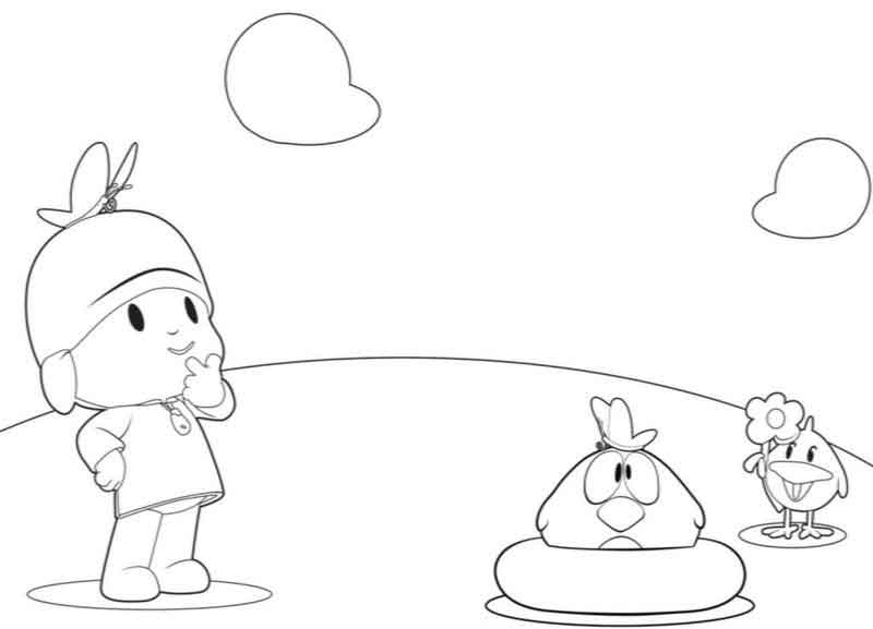 Pocoyo Coloring Pages Pictures