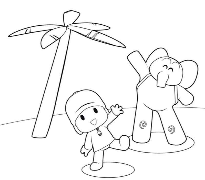 Pocoyo Printable Coloring Pages