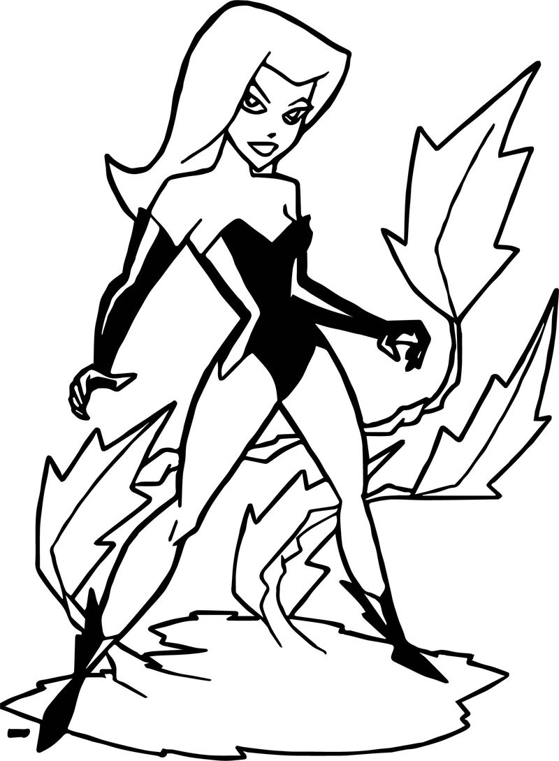 Poison Ivy Girl Batman Coloring Page