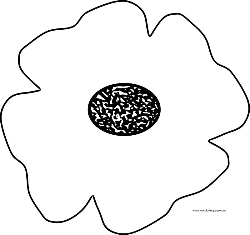 Poppy Flowers Coloring Page
