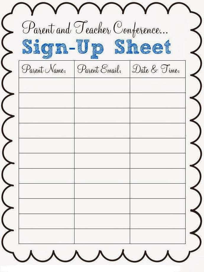 Potluck Dinner Sign Up Sheet For Teachers And Parents 001