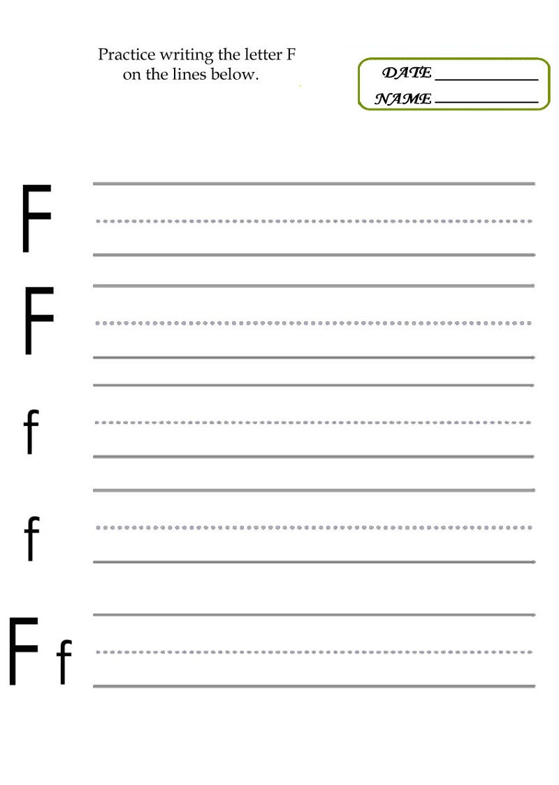 Practice Writing Letters Activity 001