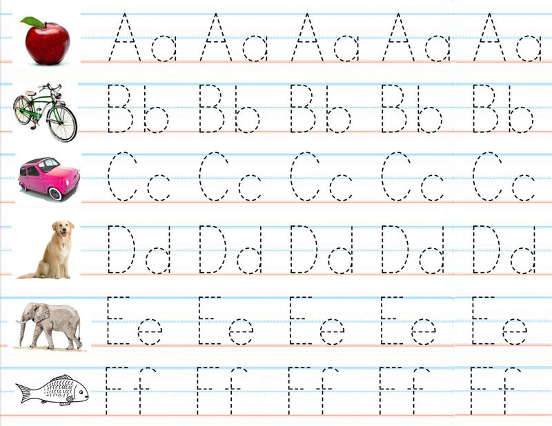 Pre K Letters Tracing