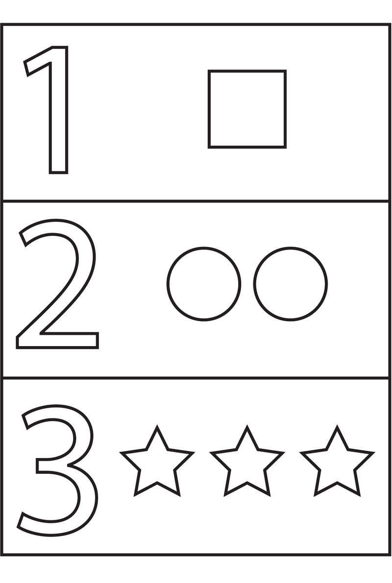 Pre K Number Worksheets Shapes 1