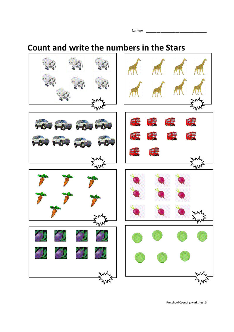 Pre K Number Worksheets With Pictures 1