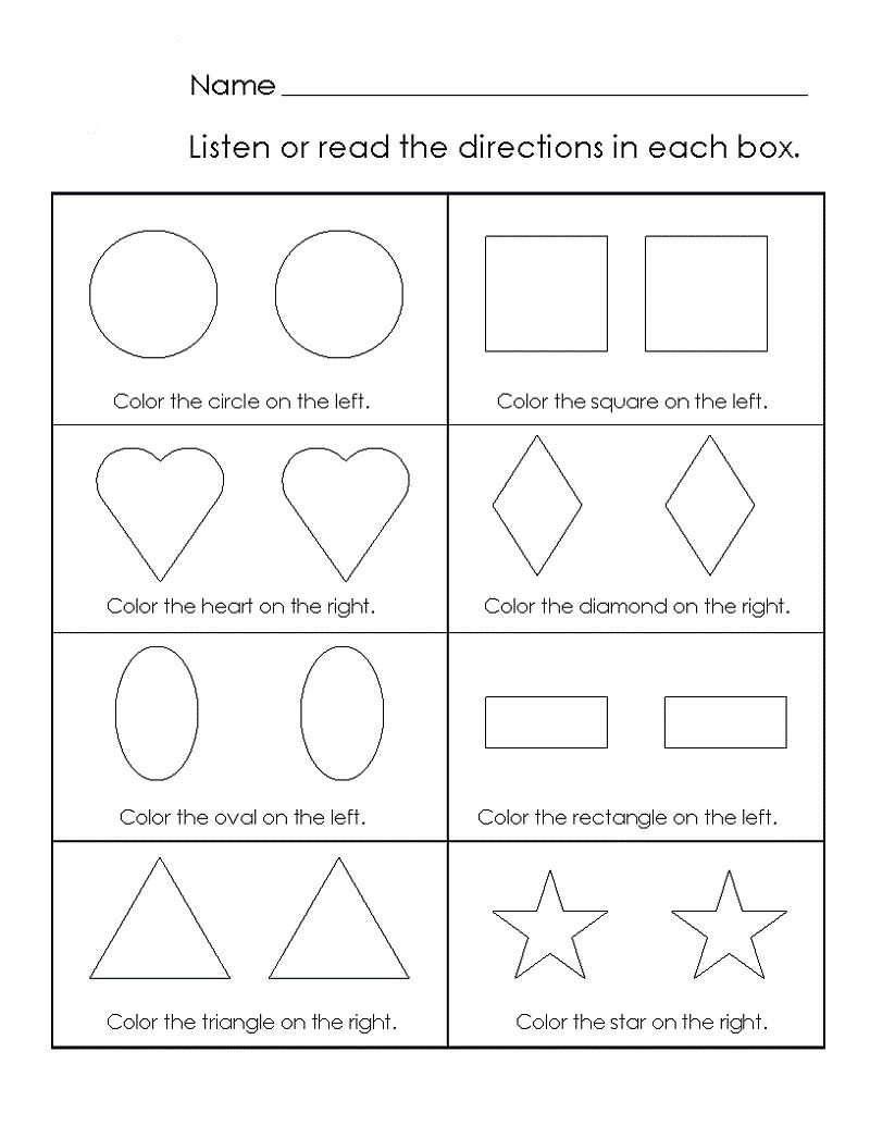 Pre K Shapes Worksheets Activity 001