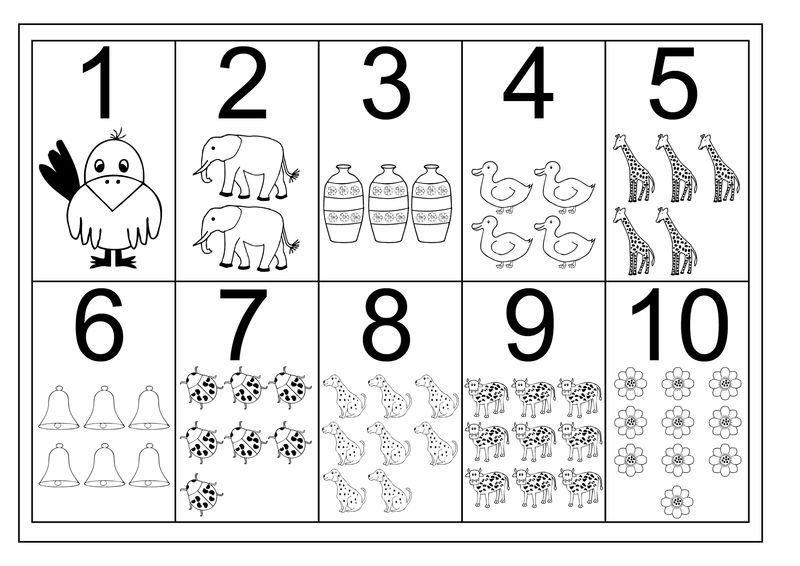 Pre K Worksheets Numbers With Pictures