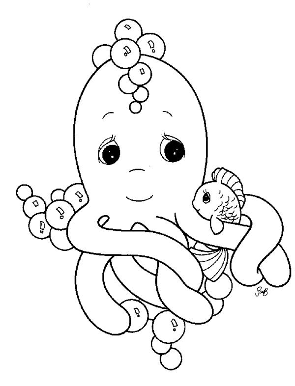Precious Moments Coloring Pages Animals