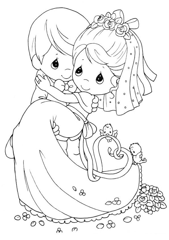 Precious Moments Coloring Pages Wedding