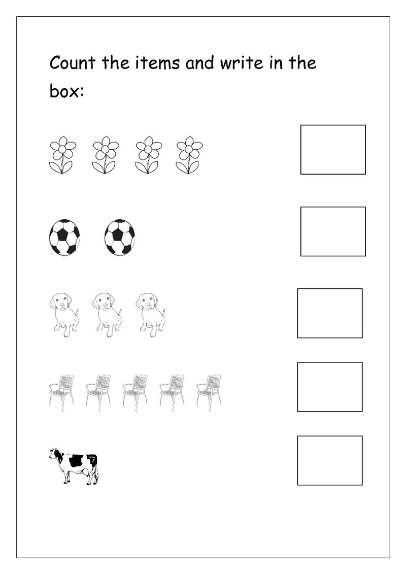 Preschool Writing Numbers 1 To 5 Page 001