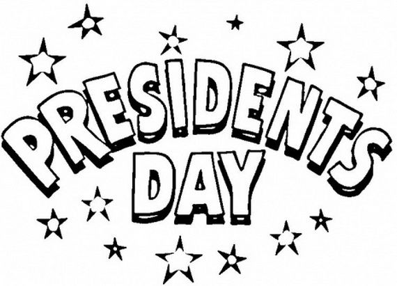 Presidents Day Banner For Coloring