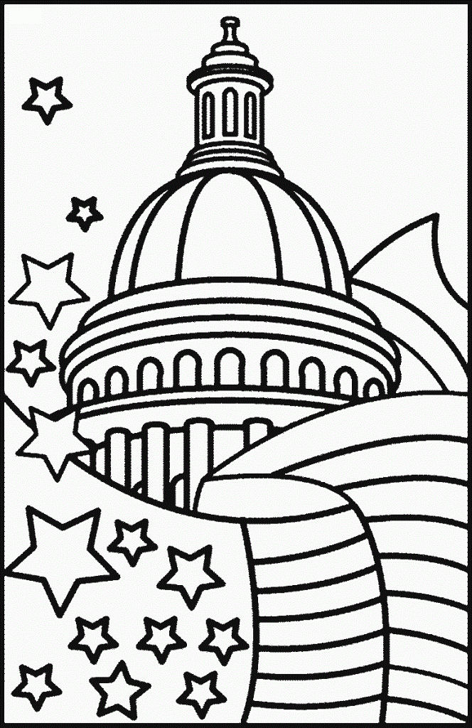 Presidents Day Capital Coloring Pages