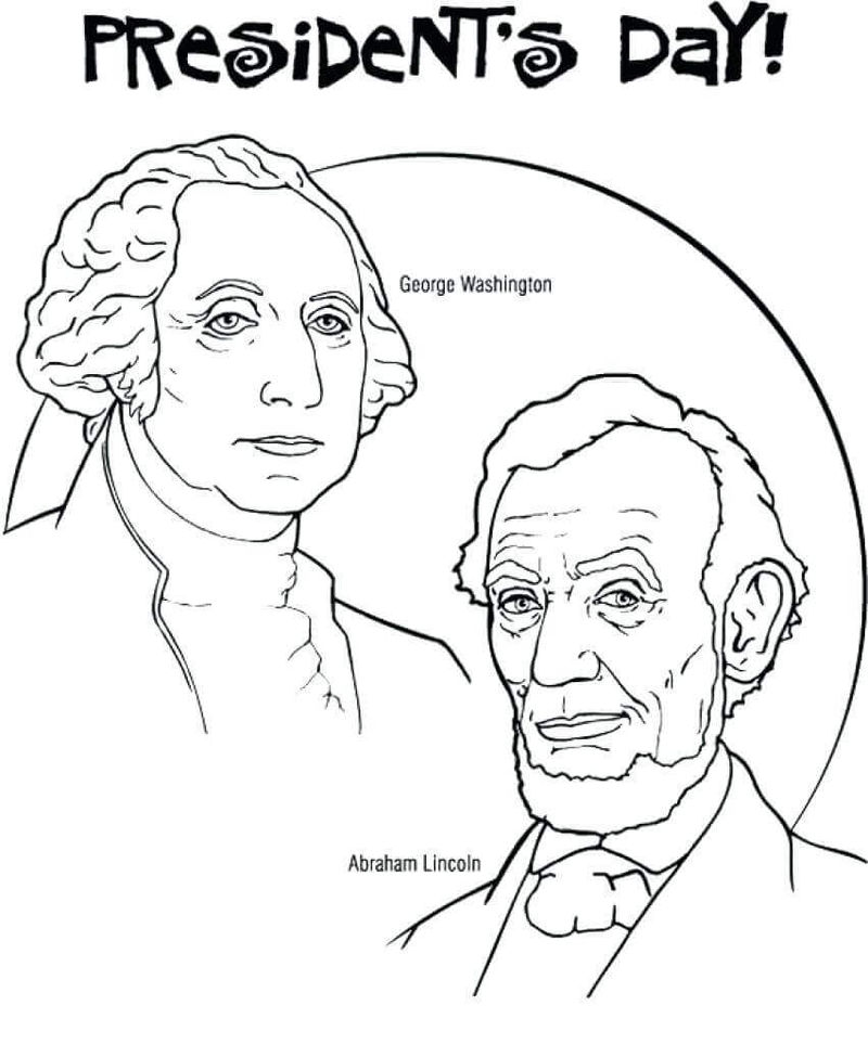 Presidents Day Coloring Pages Washington Lincoln