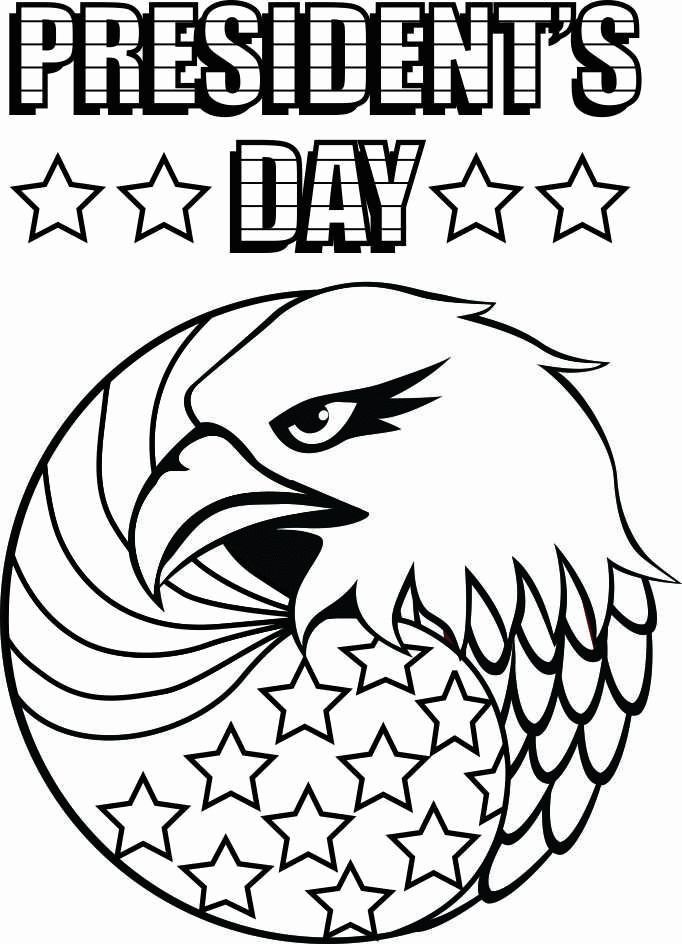 Presidents Day Eagle Coloring Page