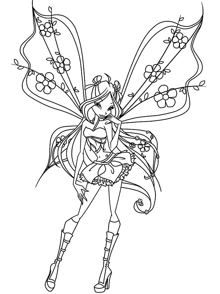Pretty Fair Fantasy Coloring Pages 001