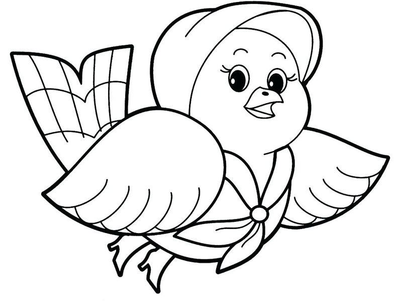 Pretty Pigeon Animal Coloring Pages