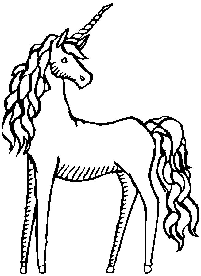 Pretty Unicorn Drawing Coloring Pages