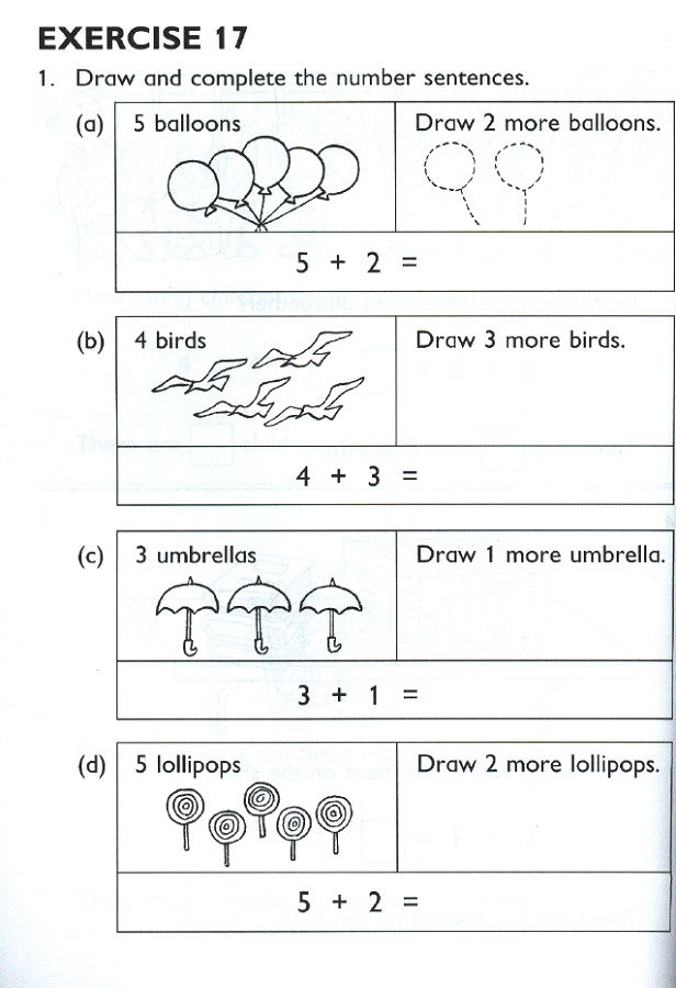 Primary Maths Worksheets Printable Addition