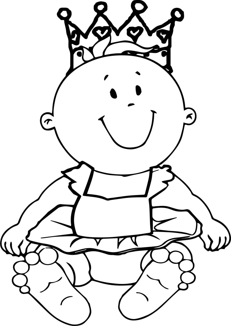 Prince baby boy coloring page