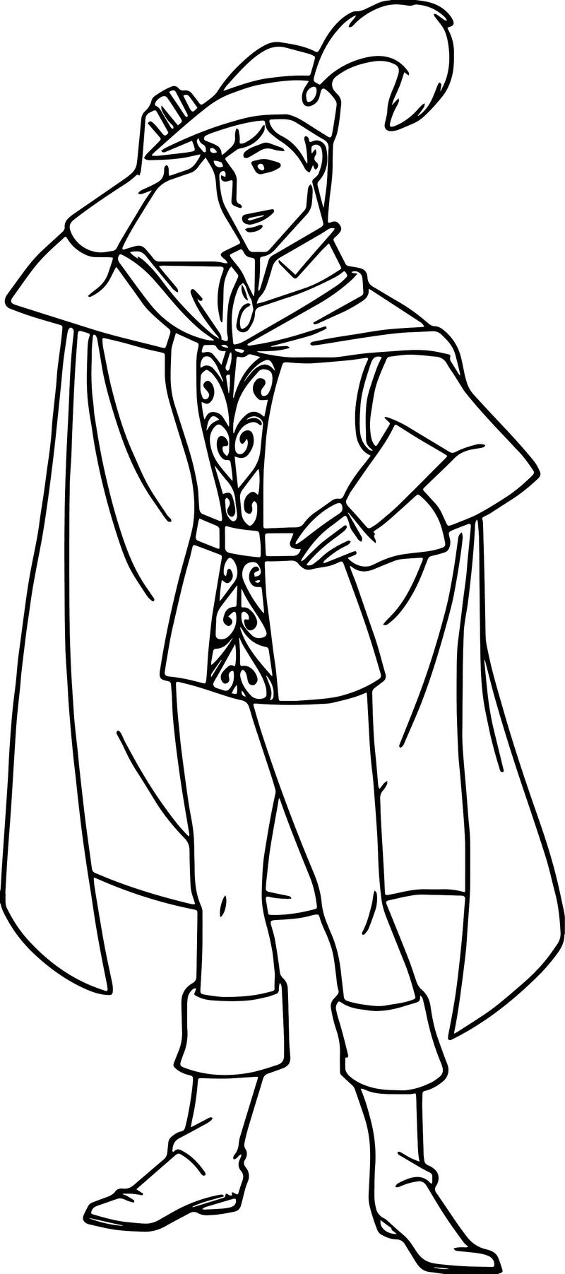 Prince Phillip And Samson Pose Coloring Pages