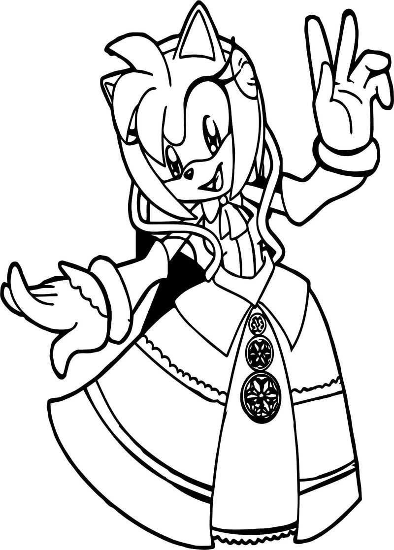 Princess Amy Rose Coloring Page