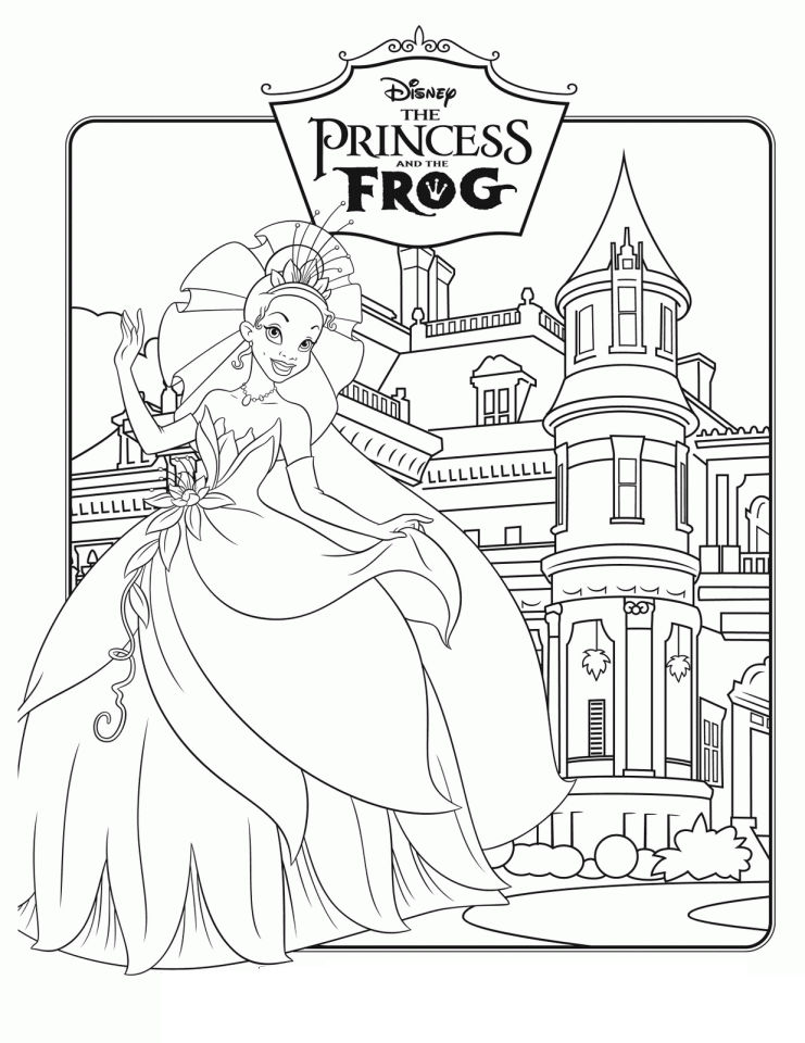 Princess And The Frog Disney Princess Coloring Pages