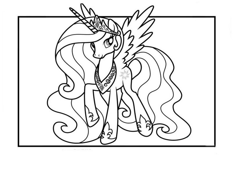 Princess Celestia Coloring Page My Little Pony Free