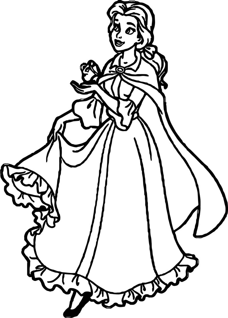 Princess Coming Coloring Page