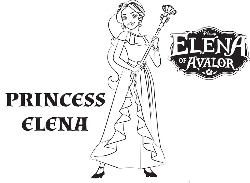 Princess Elena Of Avalor Coloring Pages