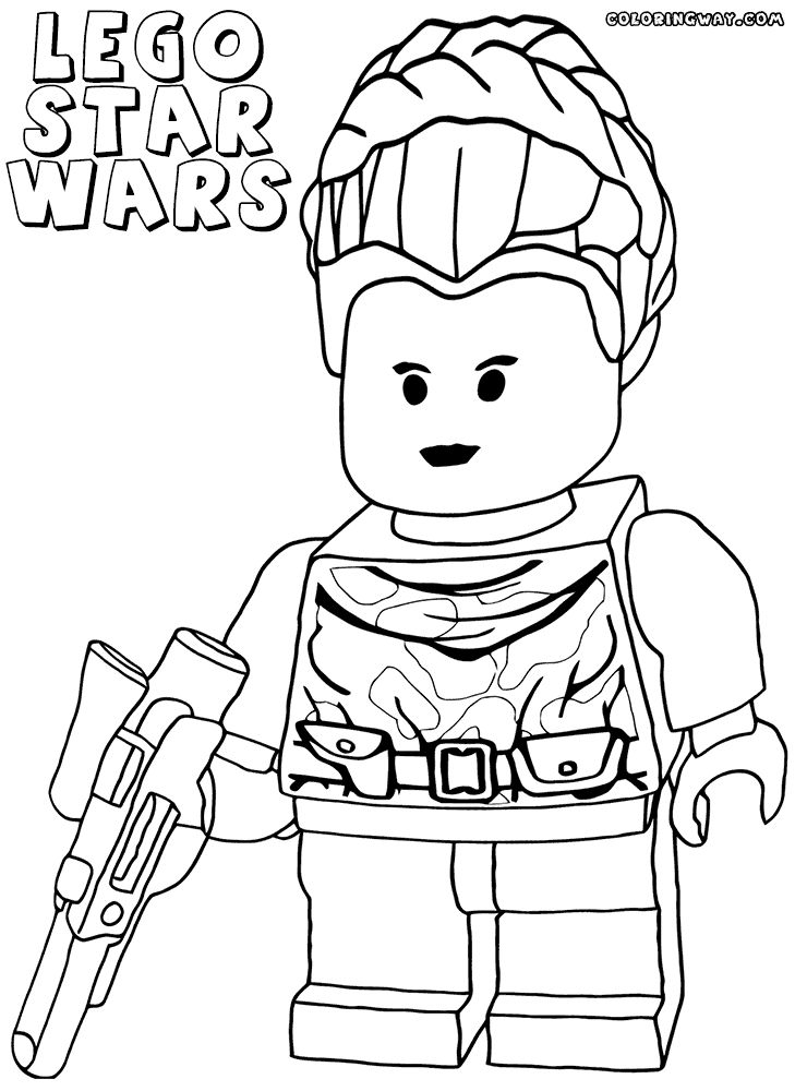 Princess Leia Lego Star Wars Coloring Pages 1